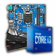 Kit Upgrade, Intel Core i3 10100F, Placa mãe IPMH410E, Memória DDR4 8GB 2666MHz
