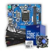 Kit Upgrade, Intel Core i5 10400F, Placa mãe IPMH410E, Memória DDR4 8GB 2666MHz