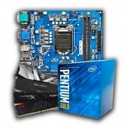 Kit Upgrade, Intel Core Pentium G6400, Placa mãe IPMH410E, Memória DDR4 8GB 2666MHz