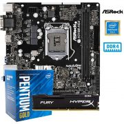 Kit Upgrade Intel G5400 + Placa mãe H310 HG4 + 8GB DDR4