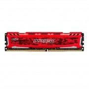 Memória Ballistix Crucial Sport LT Red 4GB DDR4 2666Mhz BLS4G4D26BFSE