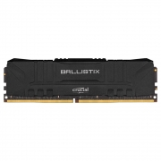 Memória Crucial Ballistix 8GB DDR4 3000 Mhz CL15, Preto BL8G30C15U4B