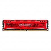 Memória DDR4 Crucial Ballistix Sport LT, 16GB 2666MHz, Red, BLS16G4D26BFSE