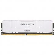 Memória RAM Crucial Ballistix 8GB DDR4 2666 Mhz CL16 UDIMM Branca BL8G26C16U4W