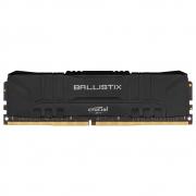 Memória RAM Crucial Ballistix 8GB DDR4 2666 Mhz CL16 UDIMM Preto BL8G26C16U4B