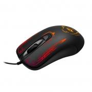 Mouse Gamer C3 Tech MG12BK Preto, Iluminação Led, 4 Botões, 2400Dpi