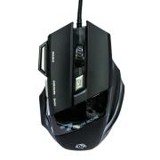 Mouse Gamer Hayom MU-2909 3200DPI 7 Botões Preto com LED