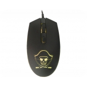 Mouse Gamer K-Mex Pirata Led 1200DPI M3400 Optico