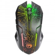 Mouse Gamer Marvo USB M207 LED 3200 DPI 7 Cores Scorpion