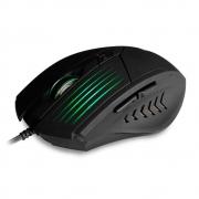 Mouse Gamer Preto com Led RBG, 2400dpi, 6 Botões - C3 TECH MG10BK