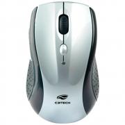 Mouse Sem Fio C3 Tech MW012SI V2 - Branco/Prata