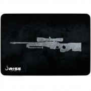MousePad Gamer Rise Médio 21x29cm Mode Snipper Grey RG-MP-04-SPG