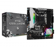 Placa Mãe ASRock B450M Steel Legend Chipset B450 AMD AM4 mATX DDR4