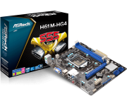 Placa mãe Asrock H61M-HG4 LGA 1155 H61 HDMI DDR3
