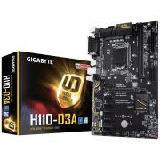 Placa Mãe Gigabyte Mineração LGA 1151 ATX GA-H110-D3A DDR4