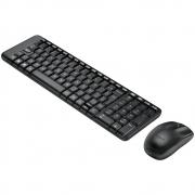 Teclado e Mouse Logitech MK220 Sem Fio Compacto Preto ABNT2 920-004431