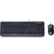 Teclado e Mouse Microsoft Wired Desktop 600 Multimídia ABNT2 APB-00005