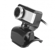 Webcam Brazil PC V4 1.5M C/ Microfone Preto / Prata