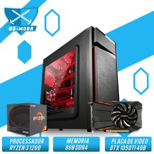 Bs Gamer AMD Ryzen 3 1200 3.1GHZ 10MB, 8GB DDR4, HD 1TB, 500W, Gtx 1050TI 4GB