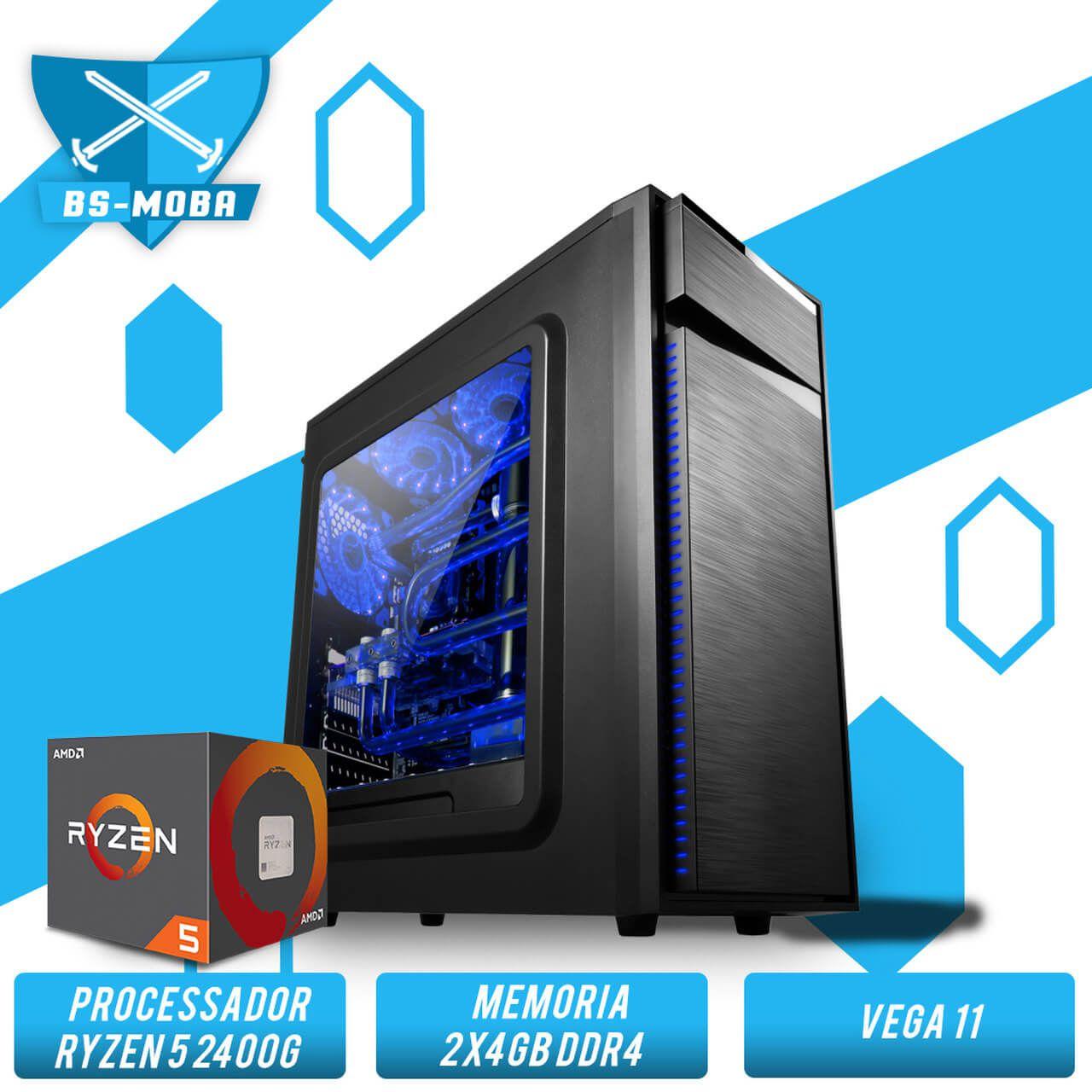 Bs Gamer AMD Ryzen 5 2400G 3.5GHz, 8GB DDR4, HD 1TB, 500W