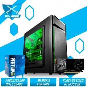 Bs Gamer Intel G5400 3.70GHZ 4MB, 4GB DDR4, HD 1TB, 400W, GT 1030 GDDR5 2GB