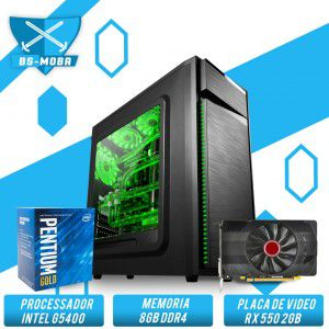 Bs Gamer Intel G5400 3.70GHZ 4MB, 8GB DDR4, HD 1TB, 500W, RX 550 2GB