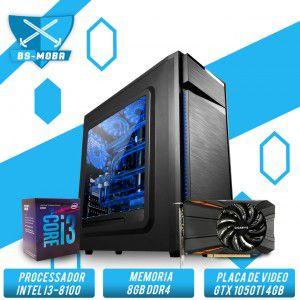 Bs Gamer Intel I3 8100 3.6GHZ 8MB, 8GB DDR4, HD 1TB, 500W, GTX 1050TI 4GB
