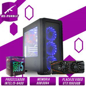 Bs Gamer Intel I5 8400 2.8GHZ 9MB, 8GB DDR4, HD 1TB, 500W, GTX 1060 6GB