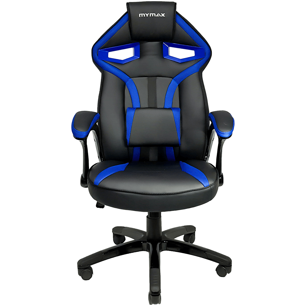 Cadeira Gamer MX1 Giratoria Preto/Azul MGCH-8131/BL