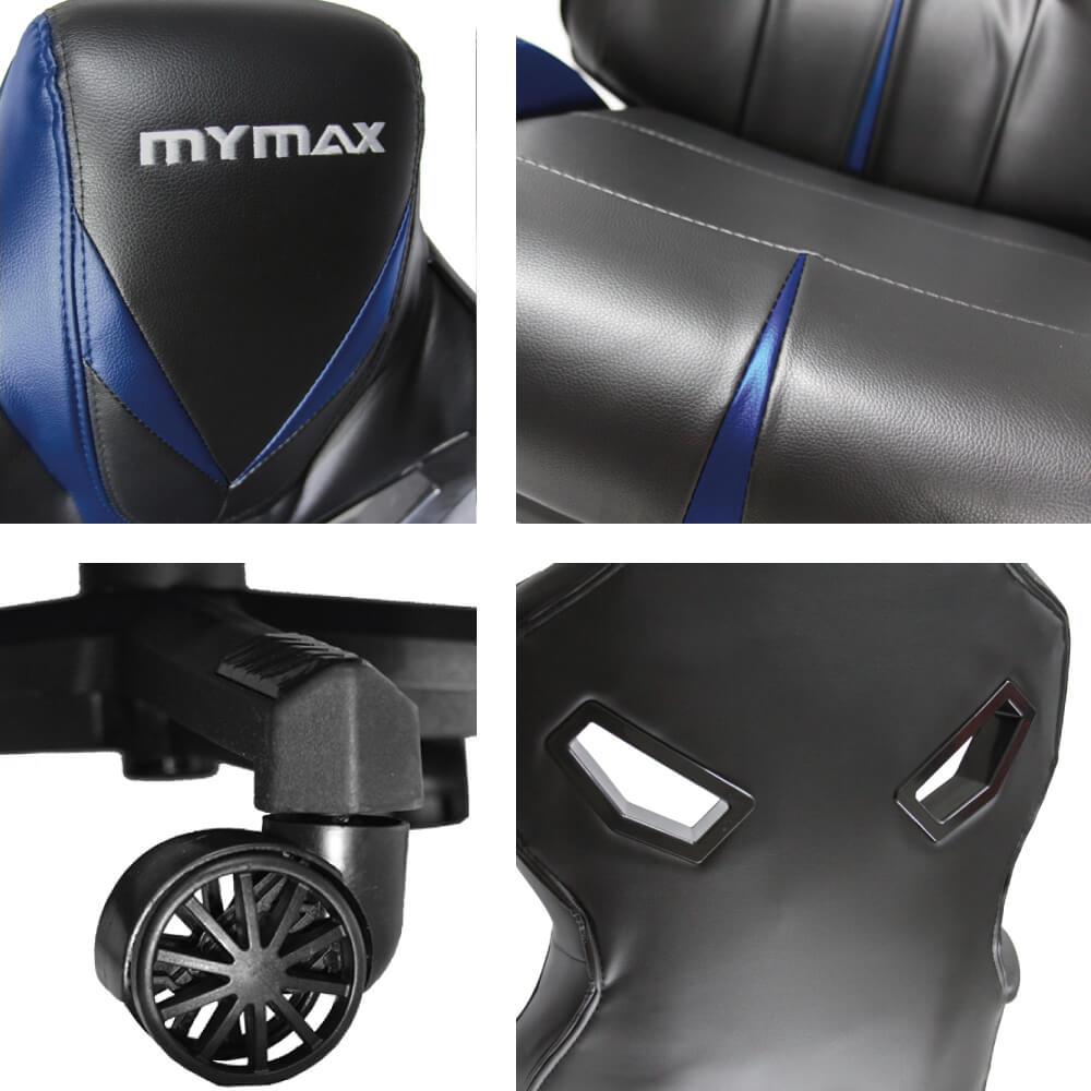 Cadeira Gamer MX8 Giratória Encosto Reclinável 135° Preto/Azul MGCH-8170/BK-BL