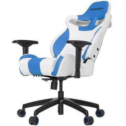 Cadeira Gamer Vertagear Series Racing S-LINE SL4000 Branco e AZUL -  VG-SL4000_WBL