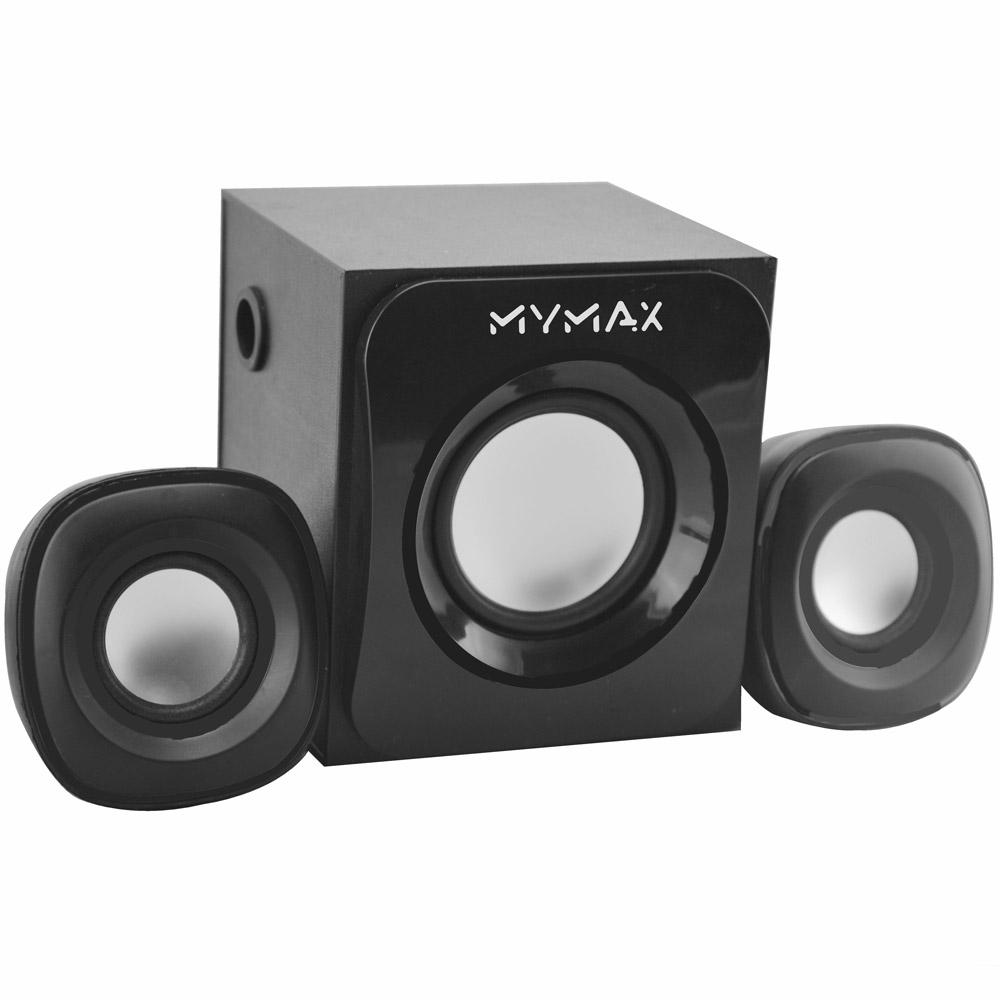 Caixa De Som com Subwoofer Mymax 2.1 USB 7W RMS Preto - SPK-SP315/BK