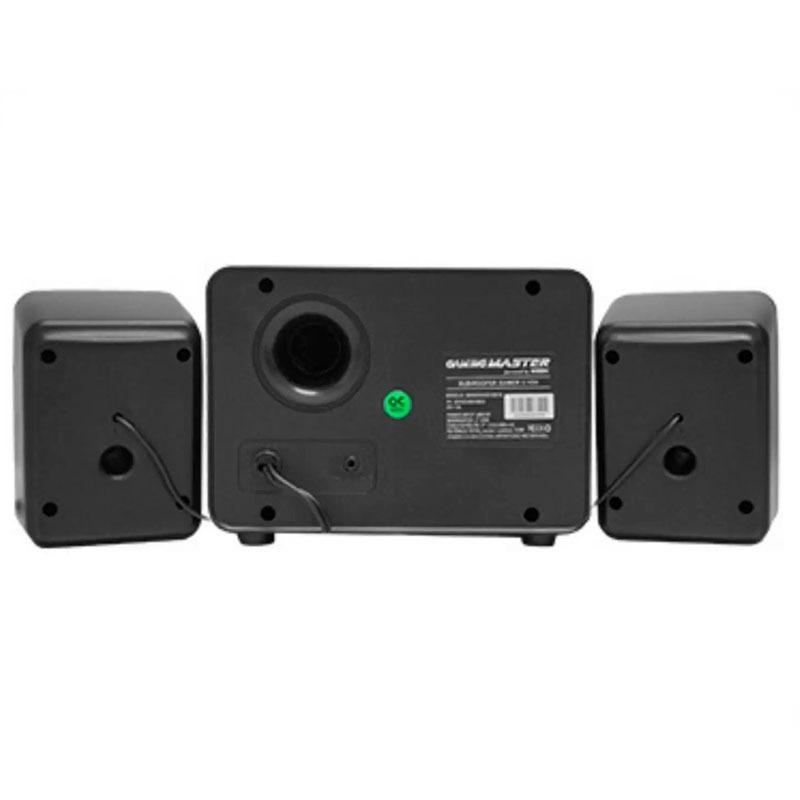Caixa de Som Gamer K-Mex SS-9800  2.1 com Subwoofer Conector P2 com LED Multicores
