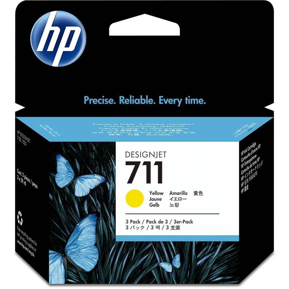 Cartucho HP Plotter 711 Amarelo 29ML CZ132AB T520 T120