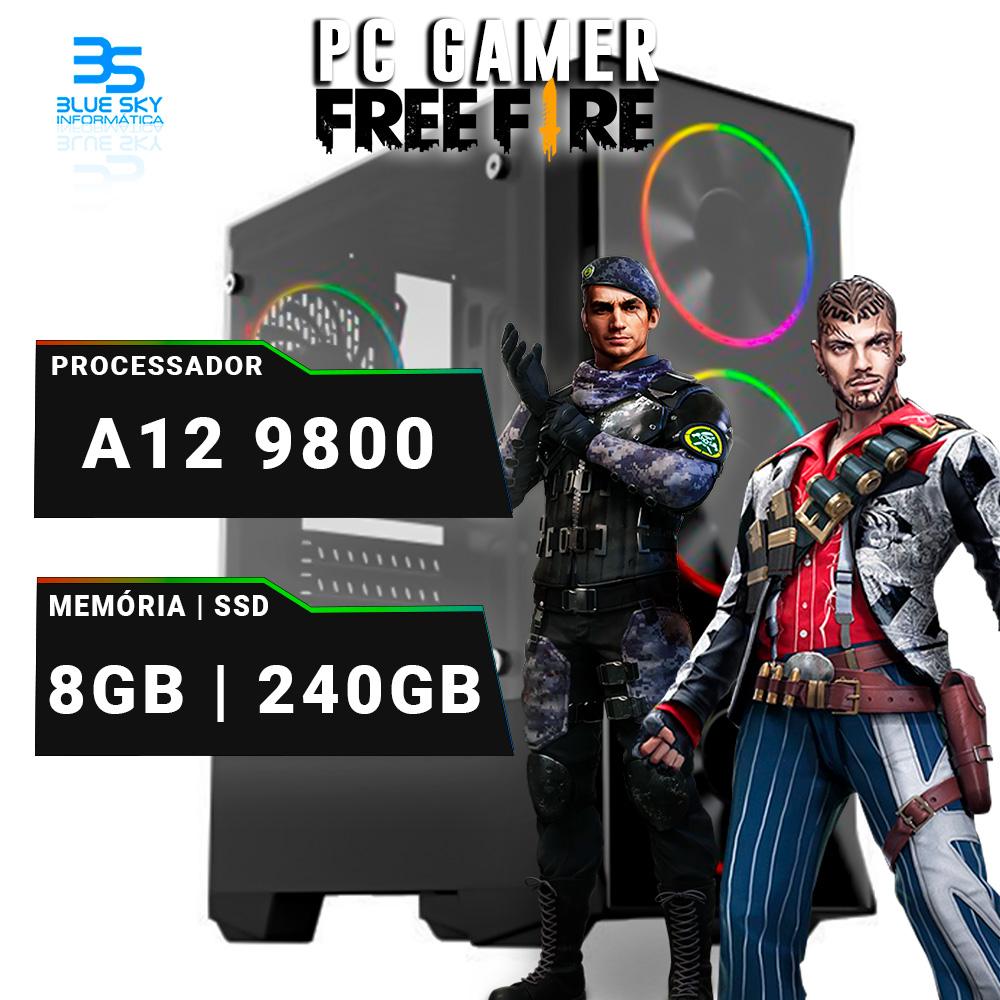Computador Gamer A12 9800, 8GB DDR4, SSD 240GB, 400W