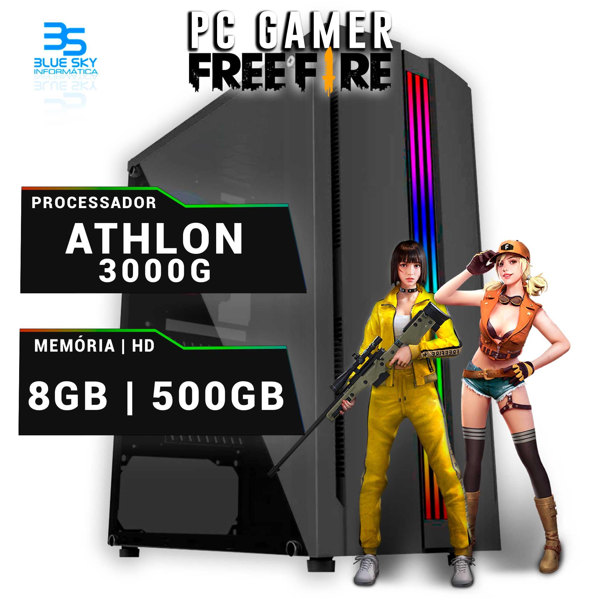 Computador Gamer Athlon 3000G, 8GB DDR4, HD 500GB, 400W