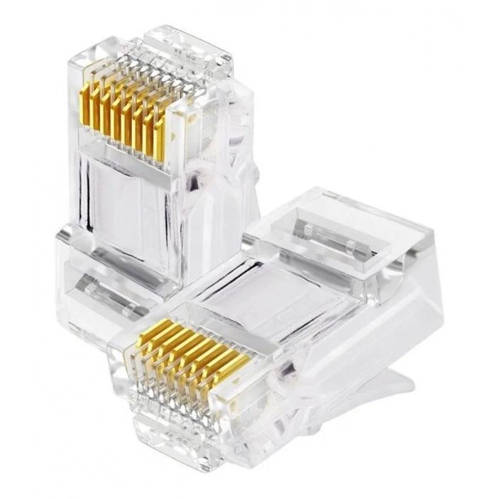 Conector RJ45 Pacote 20un Cat5 Cabo de Rede Internet AI1012