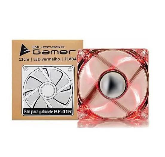 Cooler FAN Ventoinha Bluecase Gamer 120mm LED Vermelho BF-01R