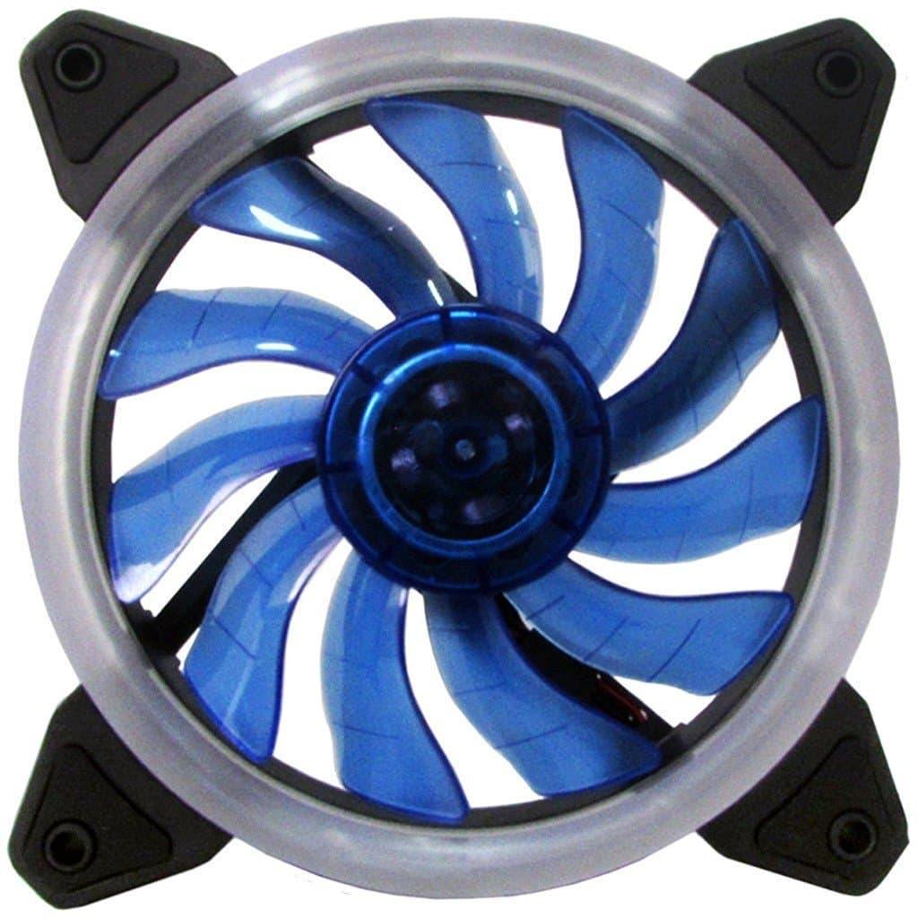 Cooler FAN para Gabinete Ring Bluecase 12cm Azul BFR-05B