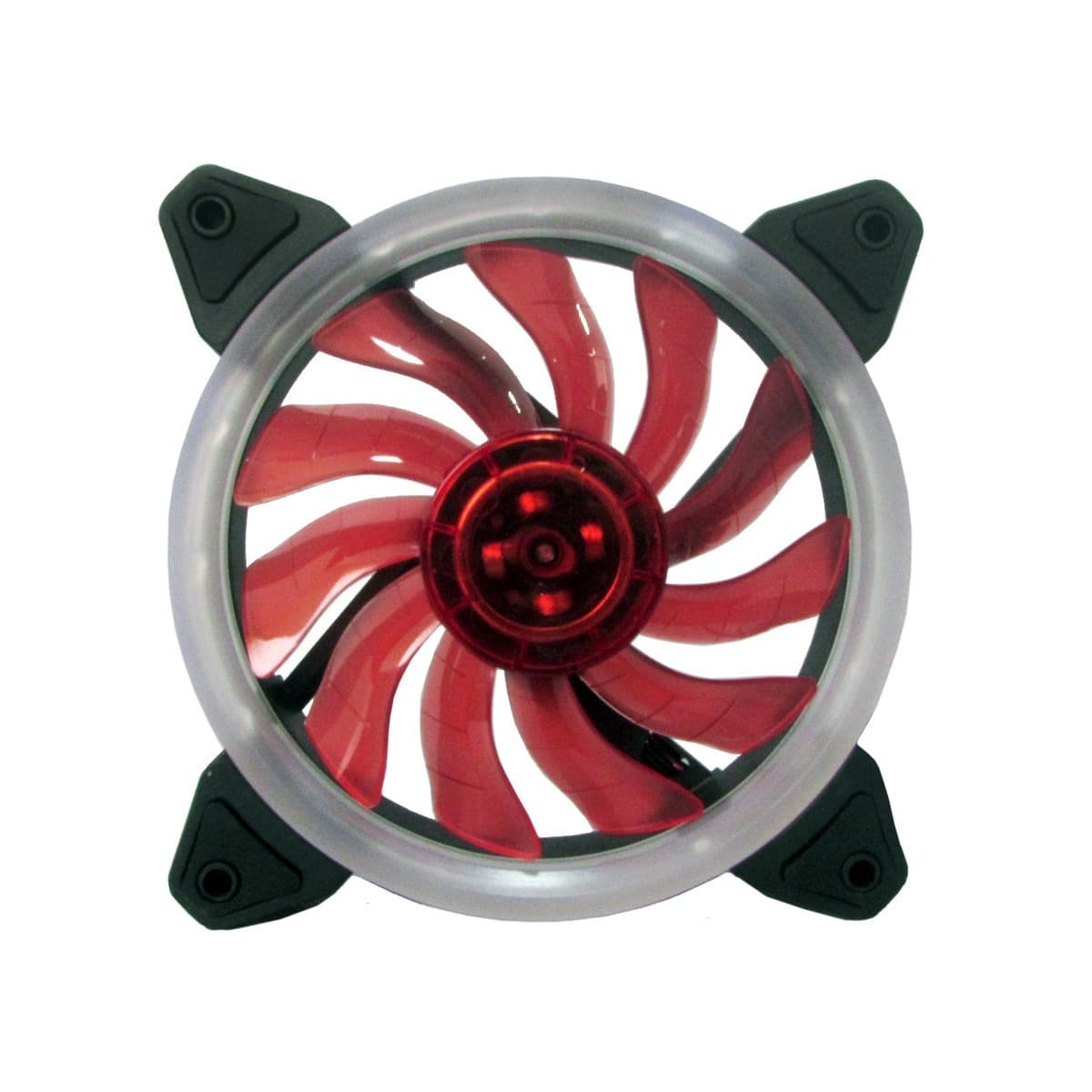 Cooler FAN para Gabinete Ring Bluecase 12cm Vermelho BFR-05R