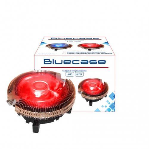Cooler Universal Bluecase P/ Processador AMD e Intel Vermelho BC-02UAR