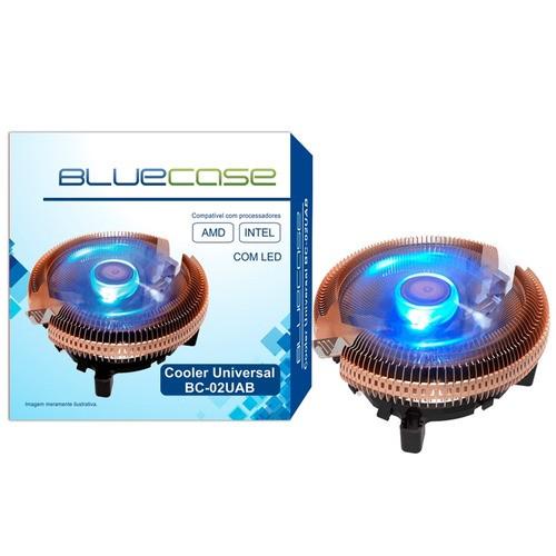 Cooler Universal Intel AMD BlueCase BC-02UAB C/ Led AZUL