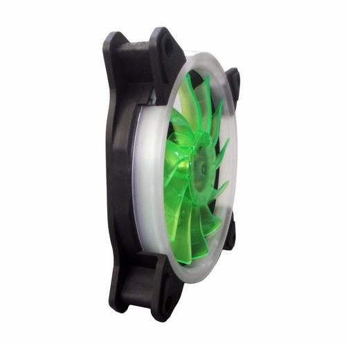 Cooler Ventoinha Bluecase Fan Ring BlueCase 12CM Verde BFR-05G