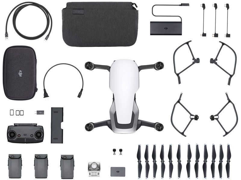 Drone DJI CP.PT.00000164.01 Mavic AIR FLY More Combo ARCTIC