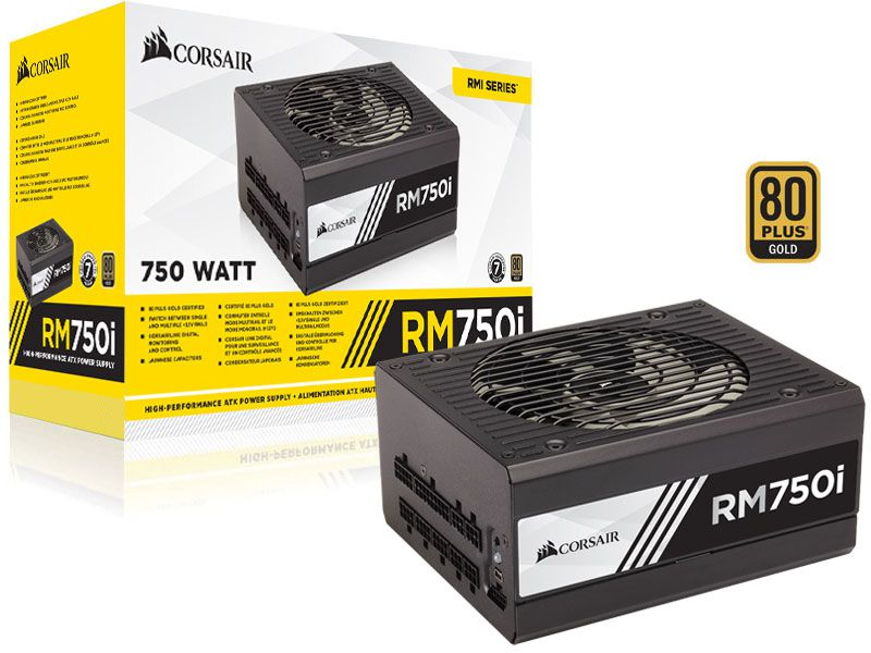 Fonte 80PLUS GOLD Corsair RM750I RMI 750W Digital PFC Modula