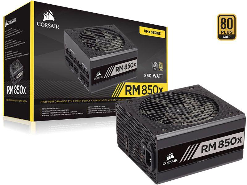 Fonte 80PLUS GOLD Corsair RM850X RMX 850W ATX PFC  Modular