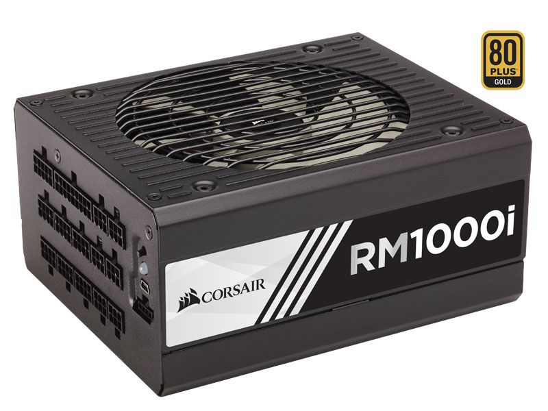Fonte 80PLUS GOLD Corsair RMI 1000W Digital PFC Modular