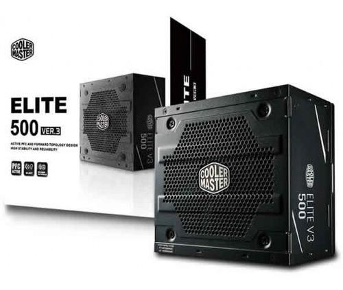 Fonte Cooler Master Elite 500W PFC Ativo MPW-5001-ACAAN1-WO