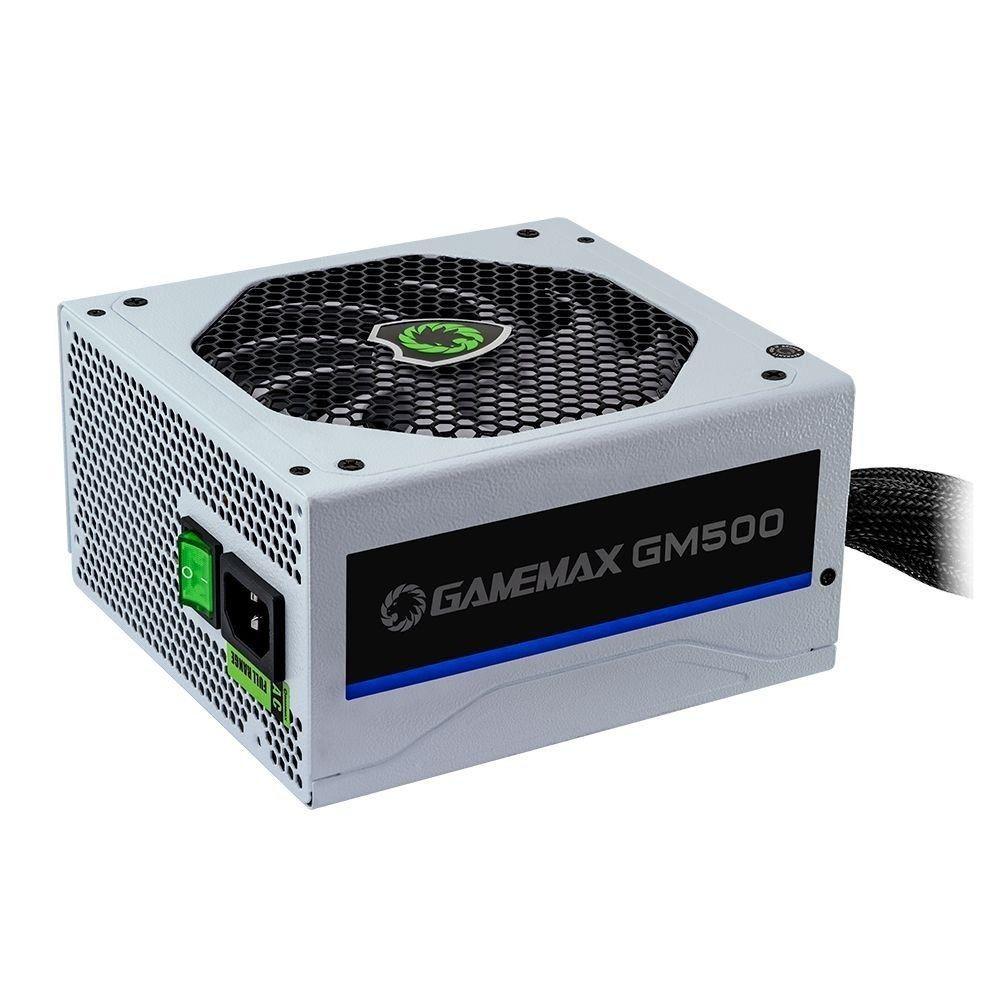 FONTE GAMEMAX GM500 PFC ATIVO BRANCA 500W 80 PLUS BRONZE, GM500
