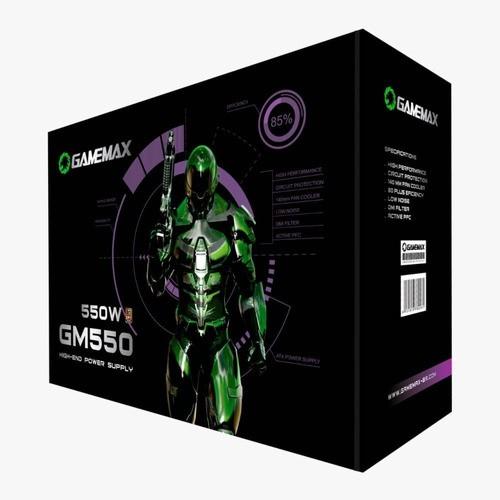 Fonte GameMax GM550 550W 80 Plus Bronze PFC Ativo Preto